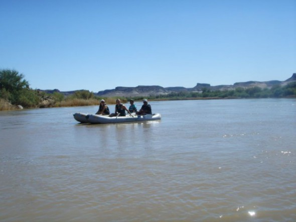 Kanutour auf Orange River